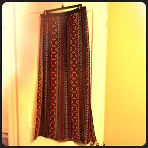 Long Patterned Skirt with high slits